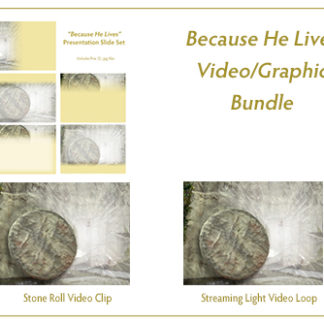 Because He Lives Video_Graphic Product Image