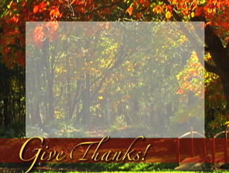 "I Am Thankful For ""Give Thanks"" Video Loop Product Image"