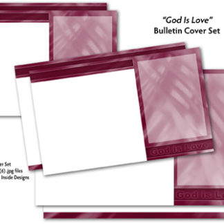 God Is Love Bulletin Cover Set Product Image