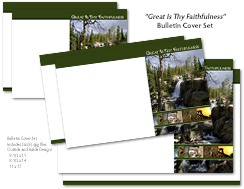 Great Is Thy Faithfulness Bulletin Cover Set Product Image