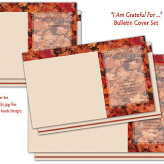 I Am Grateful For Bulletin Cover Set Product Image