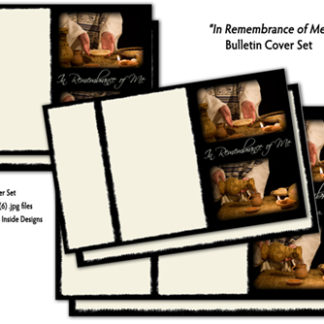 In Remembrance of Me Bulletin Cover Set Product Image