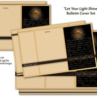Let Your Light Shine Bulletin Cover Set Product Image