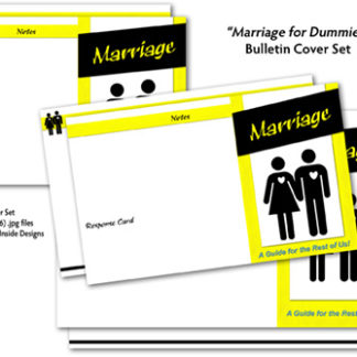 Marriage for Dummies Bulletin Cover Set Product Image