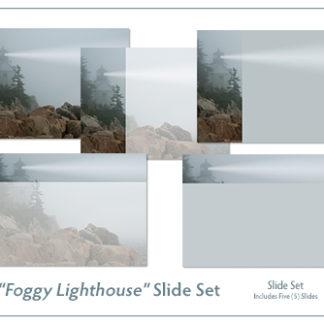 Foggy Lighthouse Slide Set Product Image