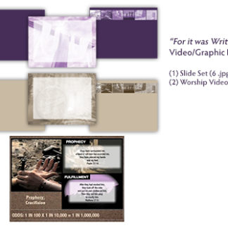 For It Was Written Video/Graphic Bundle Product Image