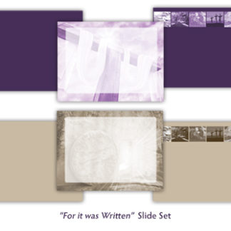 For It Was Written Slide Set Product Image