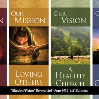 Mission/Vision 2'x5' Banner Set Product Image