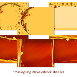 Thanksgiving Day Milestones Slide Set Product Image