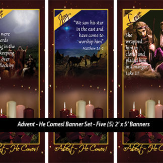 Advent - He Comes! Banner Set Product Image